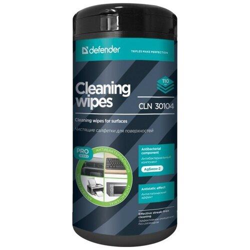 Фото - Влажные салфетки Defender CLN 30104 Pro 110 шт салфетки чистящие defender eco cln 30300