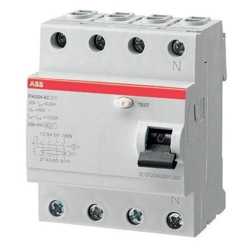 Фото - Выключатель дифференциального тока (УЗО) 4п 40А 300 мА FH204 АС выключатель schneider electric 11463 дифференциального тока узо 4п 40а 30ма вд63 ас серия домовой