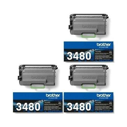 картридж sakura tn3430 для brother hl l5000 hl l5100 hl l5200 hl l6250 hl l6300 hl l6400 dcp l5500dn dcp l6600dw mfc l5700dn черный 3000 к Brother TN-3480 3 Pack (TN3480-3PK) Картриджи комплектом TN3480 черный 3 упаковки, повышенной емкости [выгода 3%] Black 24К для DCP-L5500, DCP-L6600, HL-L5000, HL-L5100, HL-L5200, HL-L6300, HL-L6400, MFC-6900, MFC-L5700, MFC-L5750, MFC-L6800, MFC-L6900