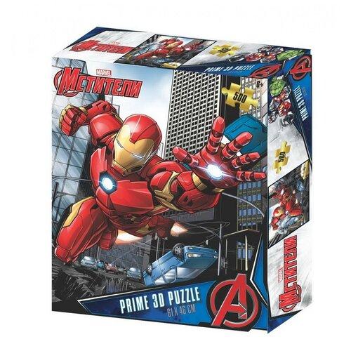 Купить Пазл Super 3D Мстители 500 элементов 32625-SBM, Prime 3D, Пазлы