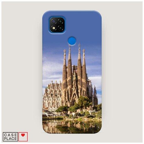 Чехол Пластиковый Xiaomi Redmi 9C Храм святого семейства в Барселоне 1