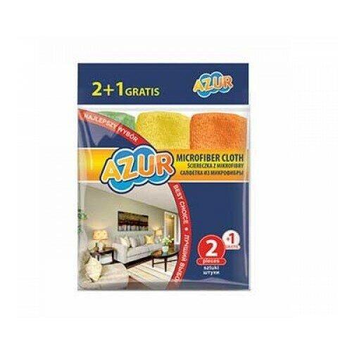 Фото - Салфетки из микрофибры Azur, 30х30 см (2+1 штука) хозяйственные товары azur салфетки из микрофибры 5 шт