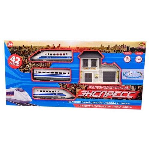 Купить Железная дорога ABtoys комета Железнодорожный экспресс , 200 см, эл/мех, 42 предмета C-00412, Наборы, локомотивы, вагоны