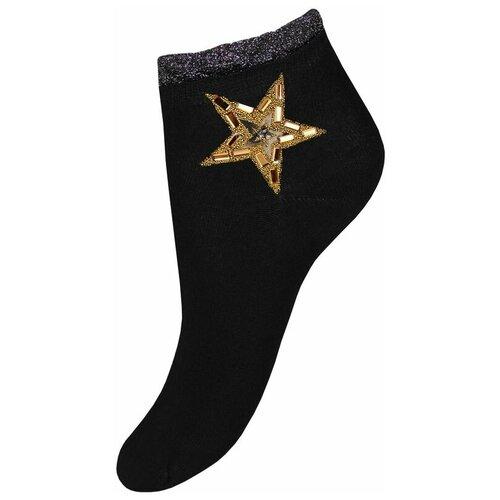 Носки женские Mademoiselle 9522-5 (золотая звезда) black (чёрный) Unica (35-40)