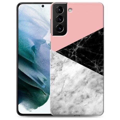 Дизайнерский пластиковый чехол для Samsung Galaxy S21 Plus Мраморные тренды