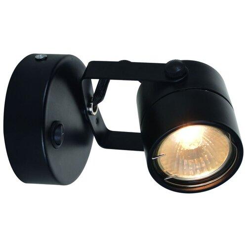 Спот Arte Lamp Lente A1310AP-1BK, кол-во ламп: 1 шт., цвет арматуры: черный, цвет плафона: черный недорого