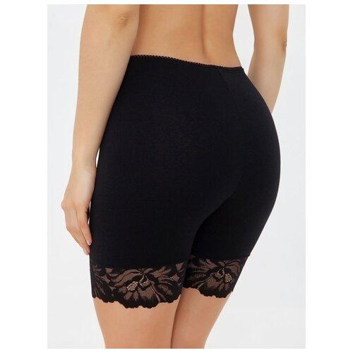 Alla Buone Трусы панталоны высокой посадки с кружевом, размер XL(50), nero