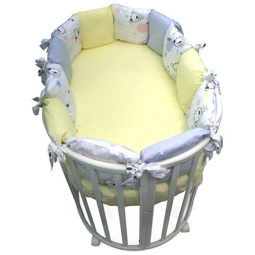 Фото - Сонный Гномик бортики-подушки Конфетти нежно-голубой сонный гномик бортики подушки стрекоза егоза розовый