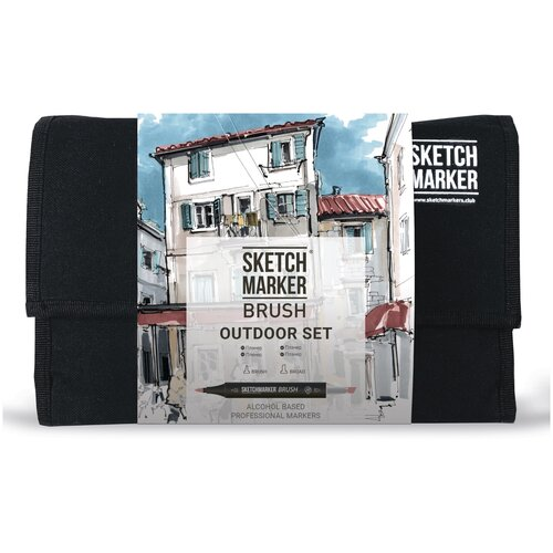 Фото - SketchMarker Набор маркеров Brush Outdoor Set, 24 шт. sketchmarker набор маркеров brush oriental style set 48 шт