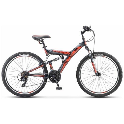 Велосипед Stels Focus V 26 18-sp V030 (2021) 18 оранжевый/черный (требует финальной сборки) велосипед stels 2612 v