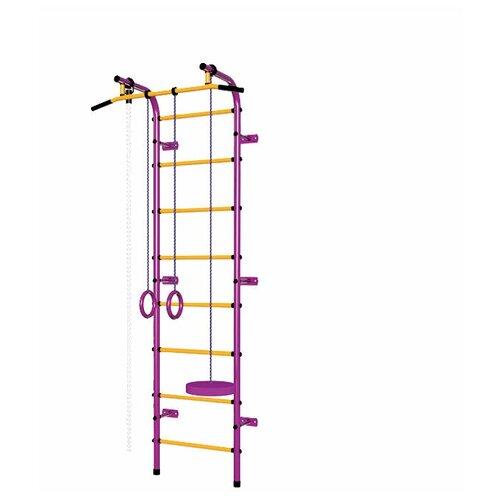 Шведская стенка Пионер С1Н, пурпурный/желтый