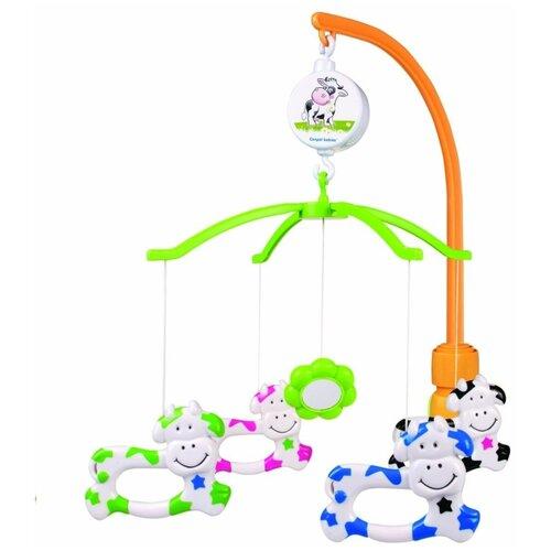 Купить Механический мобиль Canpol Babies Коровки (2/173) оранжевый/зеленый, Мобили