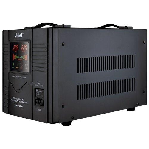 Стабилизатор напряжения однофазный Uniel RS-1/8000 черный