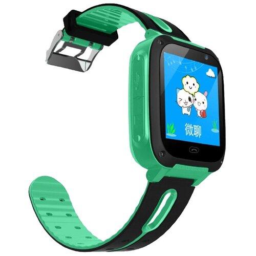 Детские умные часы Smart Baby Watch S4, зеленый/черный умные часы smart baby watch s4 голубой