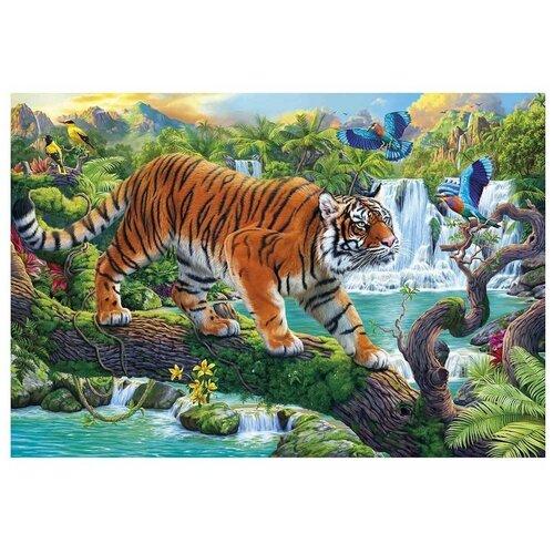 Рыжий кот Набор алмазной вышивки Красивый тигр в джунглях (AS4031) 40х50 см