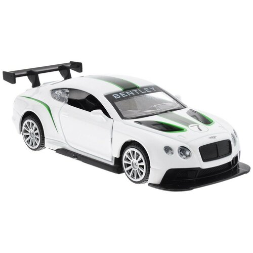 Купить Легковой автомобиль Пламенный мотор Bentley Continental GT3 (870141) 1:43, 11 см, белый, Машинки и техника