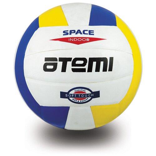 Волейбольный мяч ATEMI Space белый/желтый/синий