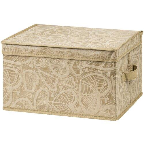 органайзер для хранения el casa золотое сердце 17 5 15 5 10 5 см 5 секций Короб складной для хранения 35х30х20 см Золотое сердце + 2 ручки