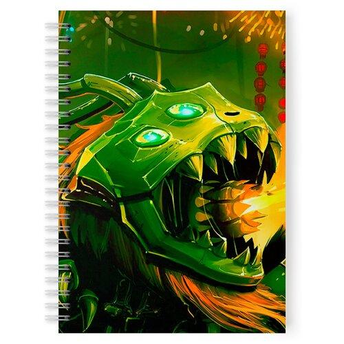 Купить Тетрадь 48 листов в клетку с рисунком Дракон, Drabs, Тетради
