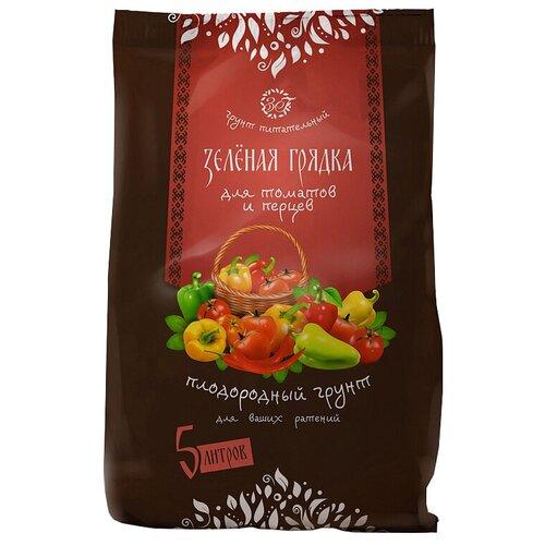 Грунт Зеленая Грядка питательный для томатов и перцев 5 л