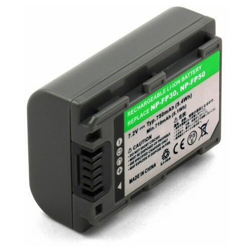 Фото - Аккумулятор для видеокамеры Sony NP-FP30, NP-FP50, NP-FP60 усиленный аккумулятор для видеокамеры sony np fp90 np fp91