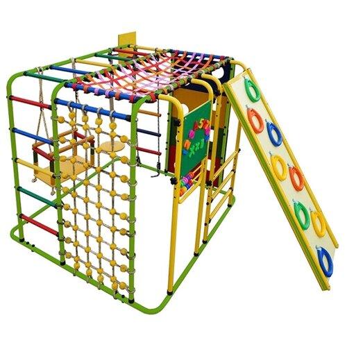 Купить Спортивно-игровой комплекс Формула здоровья Кубик-У Плюс, салатовый/радуга, Игровые и спортивные комплексы и горки