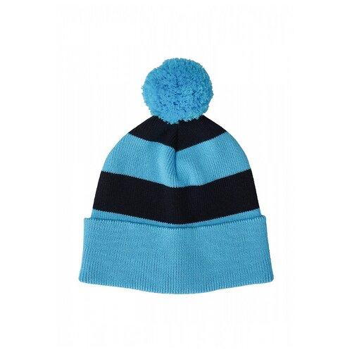 Шапка бини Oldos Майз 6-0-0-guk15 размер 52-54, голубой/темно-синий шапка бини playtoday размер 50 темно синий