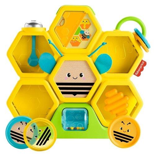 Фото - Развивающая игрушка Fisher-Price Пчелиный улей, желтый/зеленый/синий развивающая игрушка fisher price веселые ритмы бибо бибель fcw42