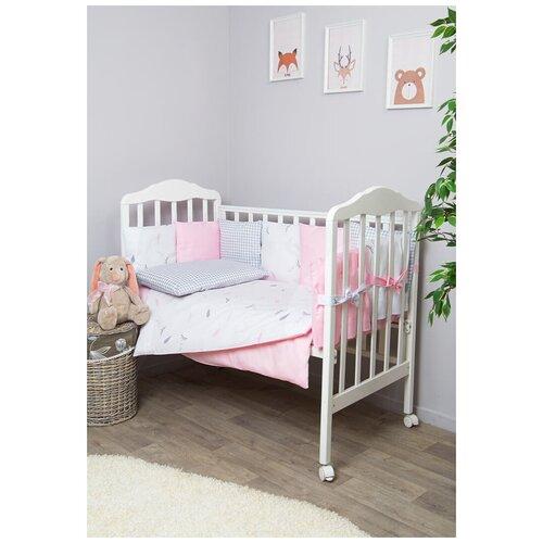 Фото - Сонный Гномик комплект с бортиками-подушками Стрекоза-Егоза (7 предметов) нежно-розовый сонный гномик бортики подушки стрекоза егоза розовый