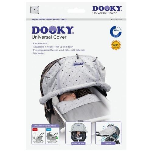 DOOKY накидка на коляску и автокресло Light Grey Crowns подушка для переноски автокресла dooky arm cushion grey stars