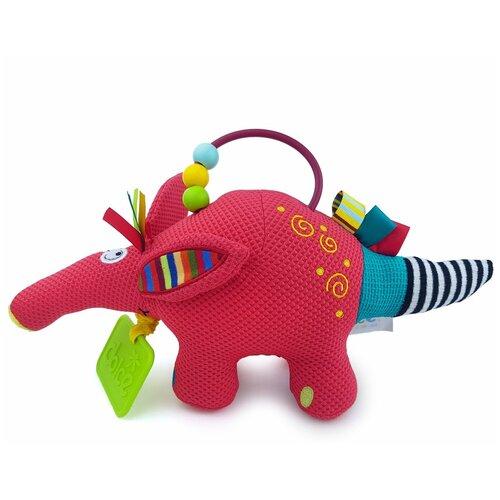 Развивающая игрушка Dolce Малыш трубкозуба, красный развивающая игрушка dolce попугайчик бело красно голубой