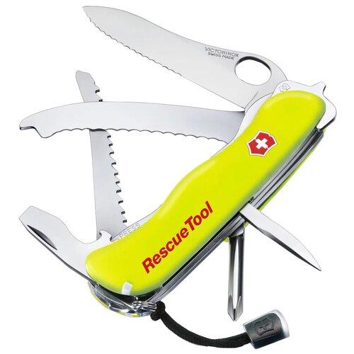 Нож многофункциональный VICTORINOX Rescue Tool с чехлом желтый/красный