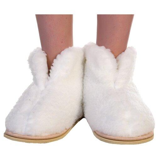 Чуни ИвШуз зимние, белые, размер 36-37