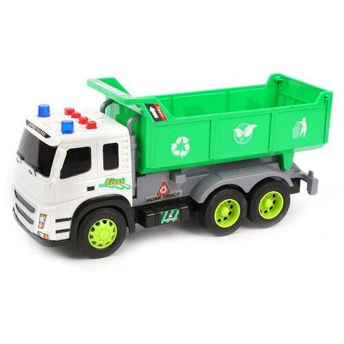 Уборочный грузовик JinHeng 1188-32 1:12, 31 см, белый/зеленый