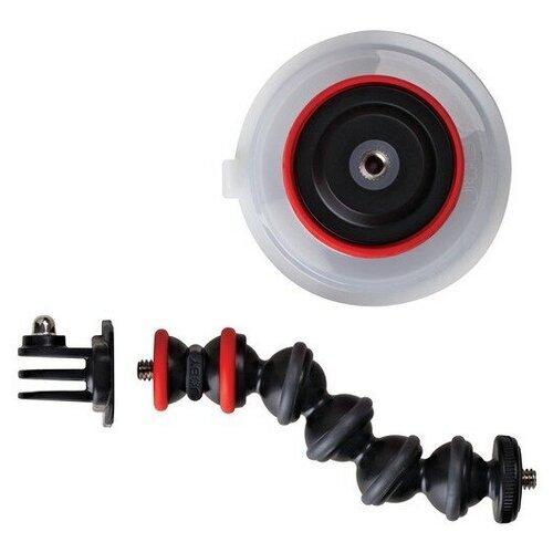 Гибкое крепление на кузов автомобиля Joby Suction Cup & GorillaPod Arm черный/красный
