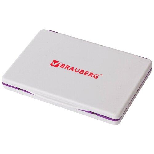 Штемпельная подушка BRAUBERG 236869 прямоугольная фиолетовая