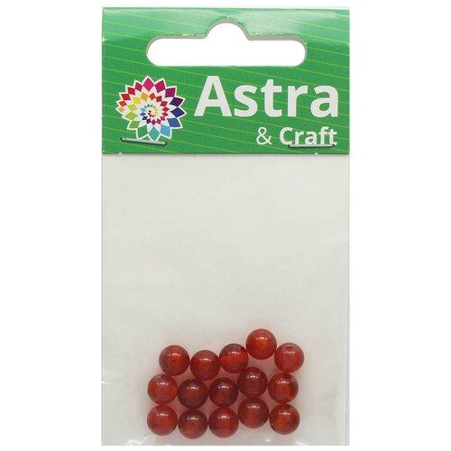 Купить Бусины, красный агат 6мм, 15шт/упак, Астра, Astra & Craft, Фурнитура для украшений