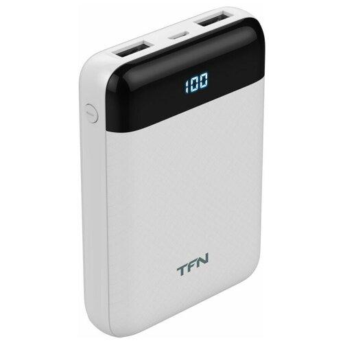 Внешний аккумулятор TFN 10000mAh Mini LCD белый