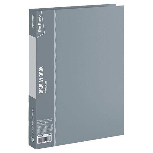 Фото - Berlingo Папка с 40 вкладышами Standard A4, пластик серый berlingo папка со 100 вкладышами standard a4 пластик синий