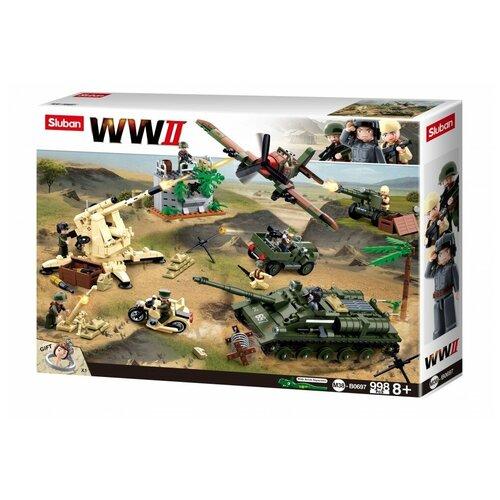 Конструктор SLUBAN WW2 M38-B0697 Битва за Курск