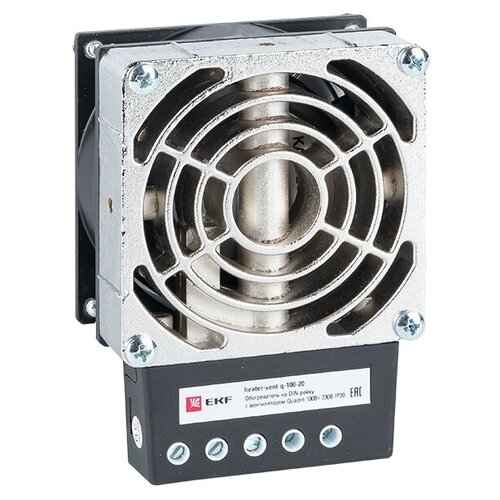 Обогреватель EKF heater-vent-q-100-20 серебристый