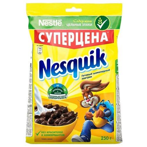 Фото - Готовый завтрак Nesquik шоколадные шарики, пакет, 250 г готовый завтрак tsakiris family лепестки шоколадные коробка 250 г