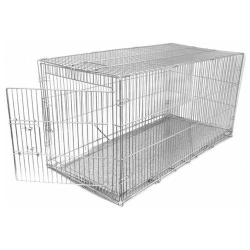 Клетка для собак Данко КлС-2 80х60х65 см серый