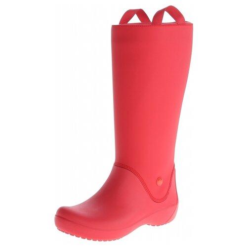 Резиновые сапоги Crocs Women's RainFloe Boot, размер 36(W6), red/red