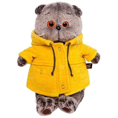 Купить Мягкая игрушка Basik&Co Кот Басик в желтой куртке B&Co 19 см, Мягкие игрушки