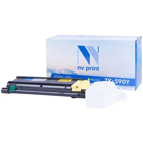 Фото - Картридж NV Print TK-590 Yellow для Kyocera, совместимый картридж nv print tk 895 yellow для kyocera совместимый
