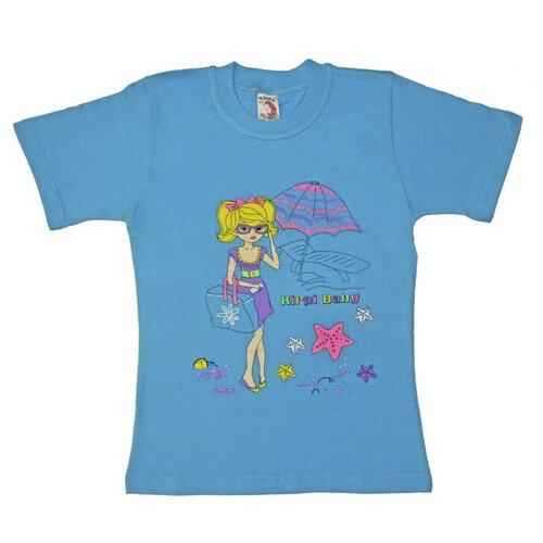 Фото - Футболка Kirpi, размер 116, голубой блузка mek размер 116 голубой