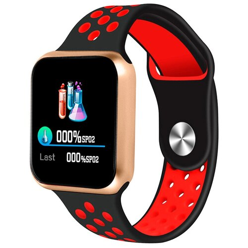 Умные часы BandRate Smart SHF88 золотистый/черный/красный