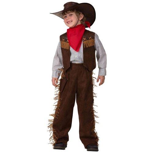 Фото - Костюм Батик Ковбой (2018), коричневый/красный, размер 146 костюм батик леший 6074 коричневый размер 146