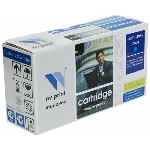 Картридж NV Print CLT-C406S Cyan для Samsung, совместимый картридж nv print clt m406s для samsung совместимый